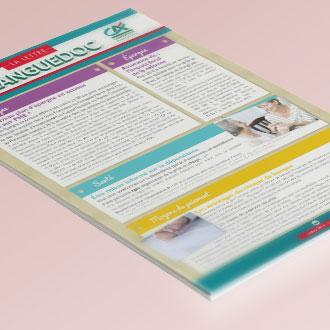Graphiste Montpellier freelance - Lettre d'information Crédit Agricole