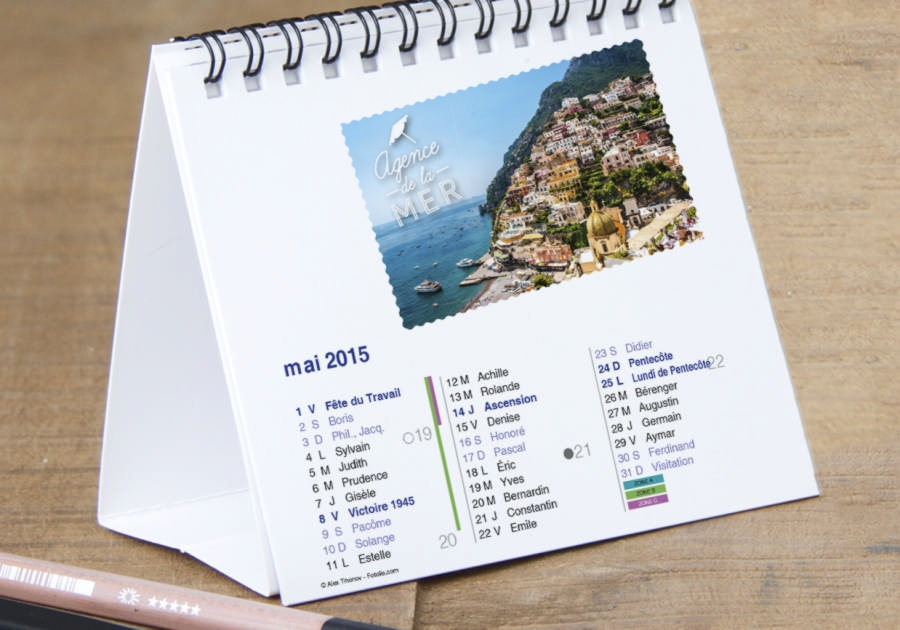 Graphiste Montpellier freelance - calendrier Exaprint