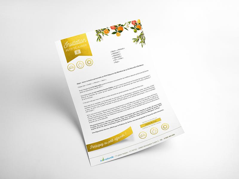 Graphiste Montpellier freelance - Lettre d'information La Vie Naturelle