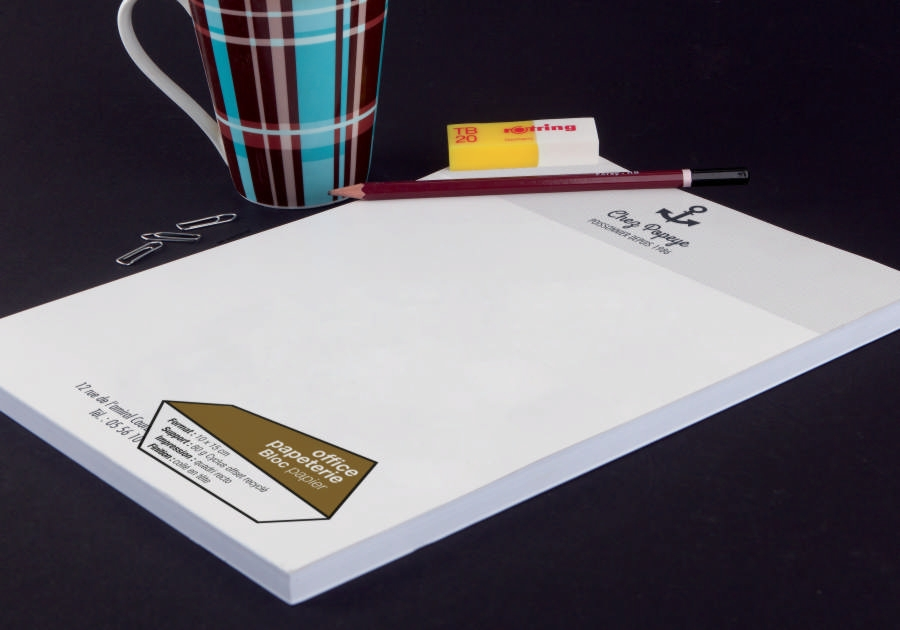 Graphiste Montpellier freelance - bloc notes Exaprint