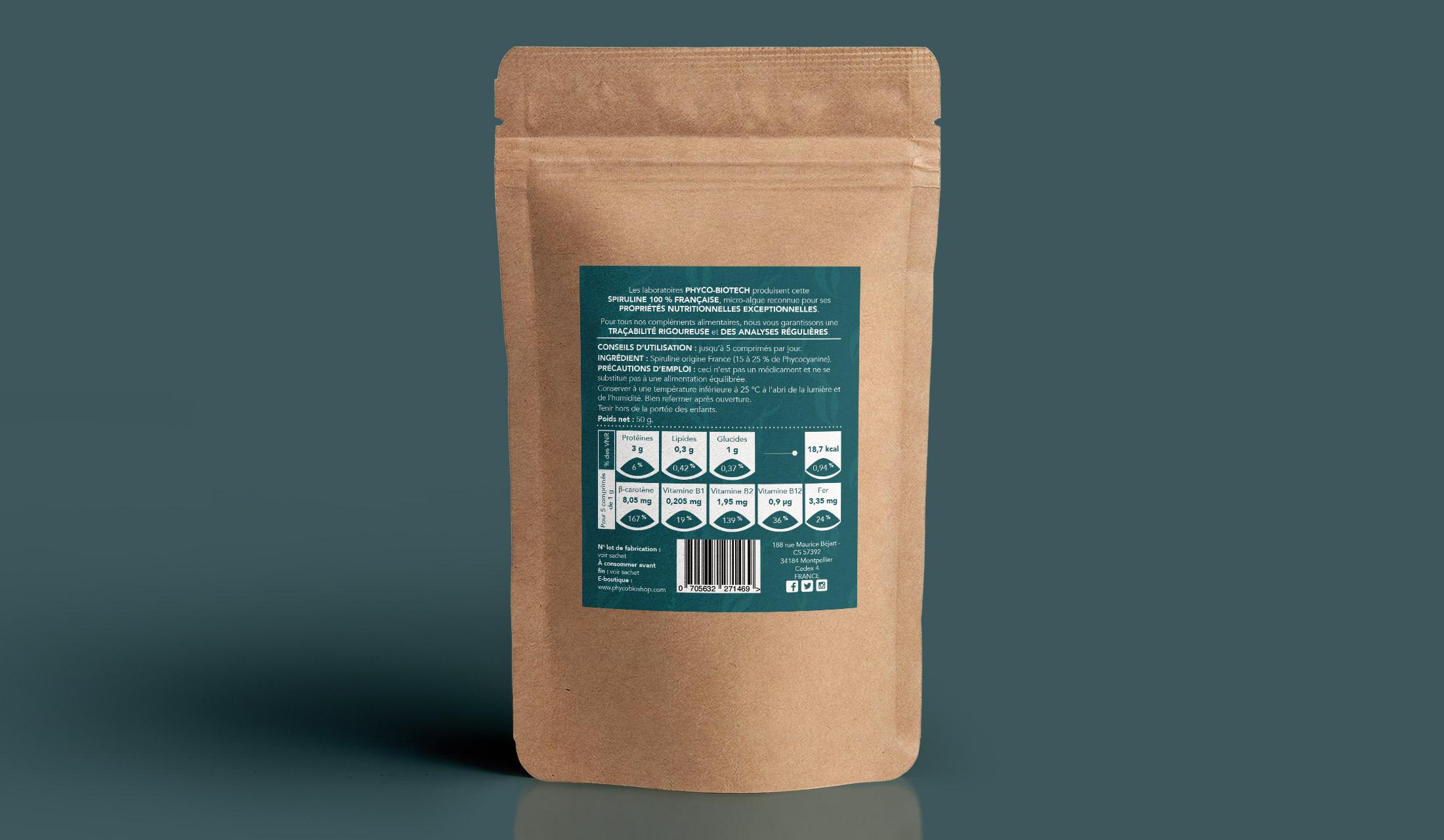 Packaging Spiruline Phyco-Biotech